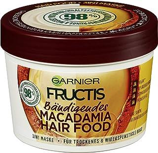 Garnier Maschera per capelli 3 in 1, senza silicone, per una sensazione naturale dei capelli, per capelli e fructis, 390 ml