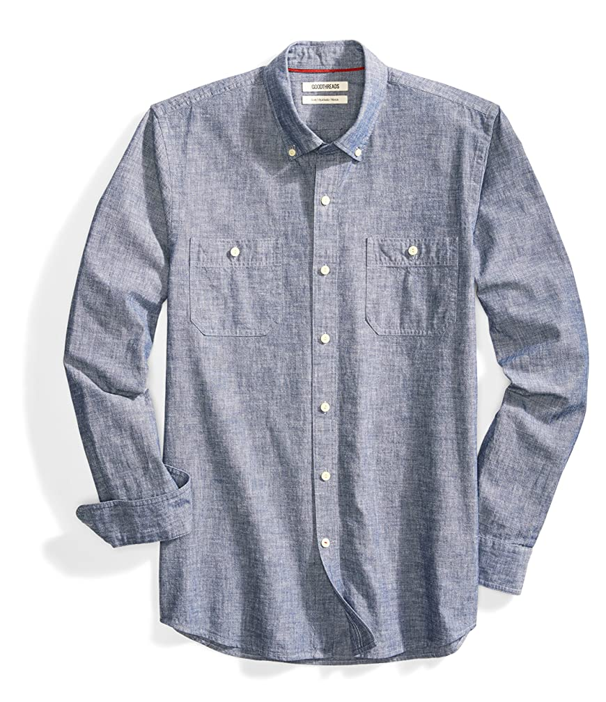 Amazon Brand - Goodthreads Men's Slim-Fit Long-Sleeve Chambray Shirt