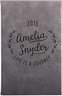 Personal Journal Custom Notebook Lined Pages Set of 3 6 Option Available on Customize Now Menu Unique Best Friend Gifts Customizable with Name & Date Free Engraving Premium Journal | 5 Color