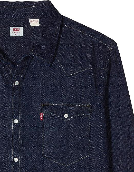 Levis Big Classic Western Camisa Abotonada, Red Cast Rinse ...