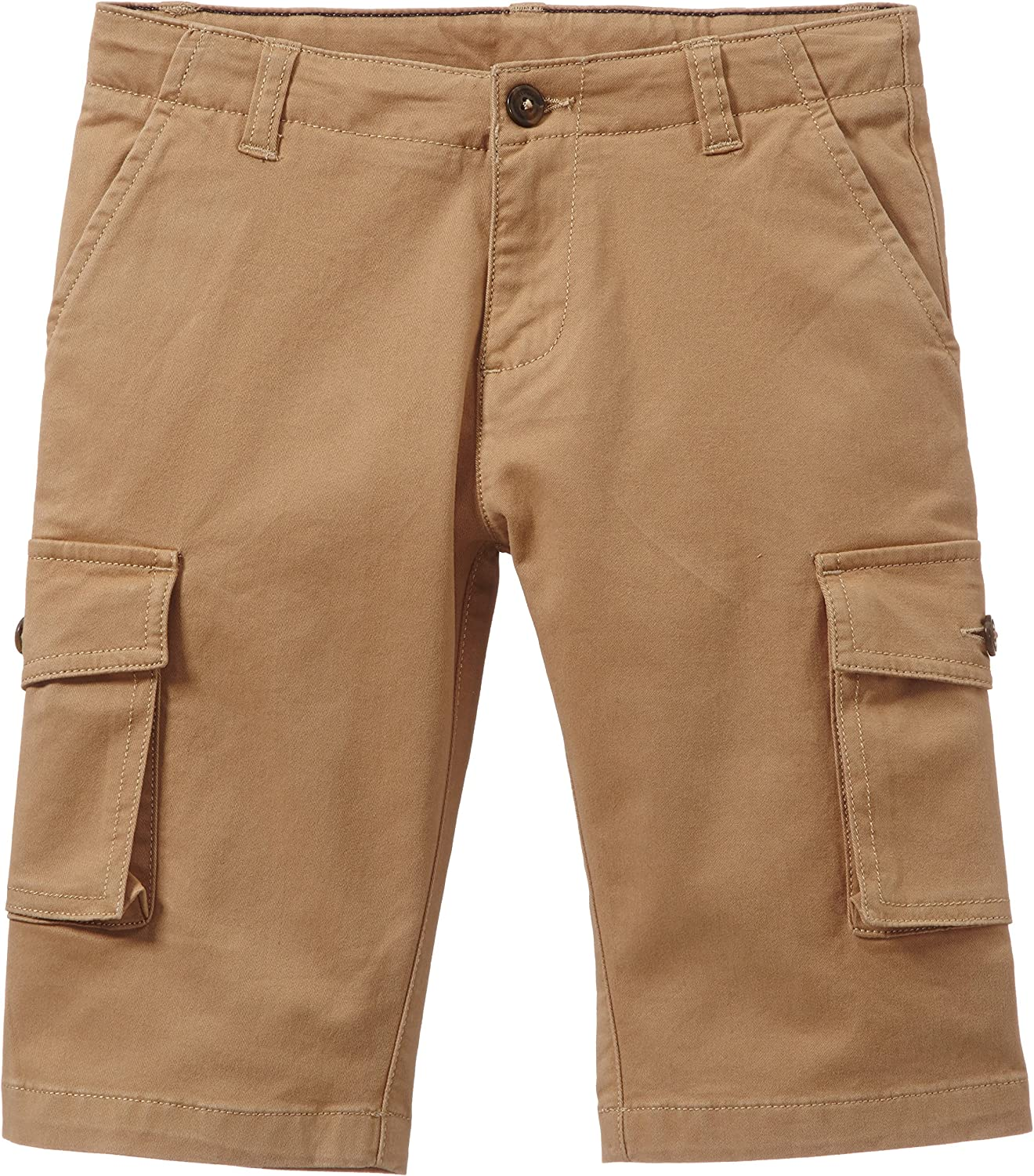 Petit Bateau Shorts with Side Pockets (Toddler Kids) - Brown-4 Years