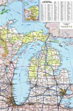 Home Comforts Large Detailed Roads and Highways map of Michigan State with All Cities and National Parks Vivid Imagery Laminated Poster Print 24 x 36