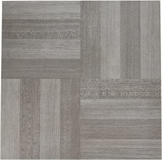 "Achim Home Furnishings FTVWD23120 Nexus Self Adhesive 20 Vinyl Floor Tiles, 12"" x 12"", Ash Grey Wood, Sq Ft"