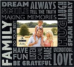 """إطار صور """"العائلة"""" أسود من تصميمات مالدن إنترناشيونال ديزاينز، 4×6، أسود"""