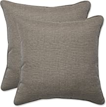 Pillow Perfect Outdoor | Indoor Monti Chino 16.5 Inch Throw Pillow, 16.5 X 16.5 X 5, Tan