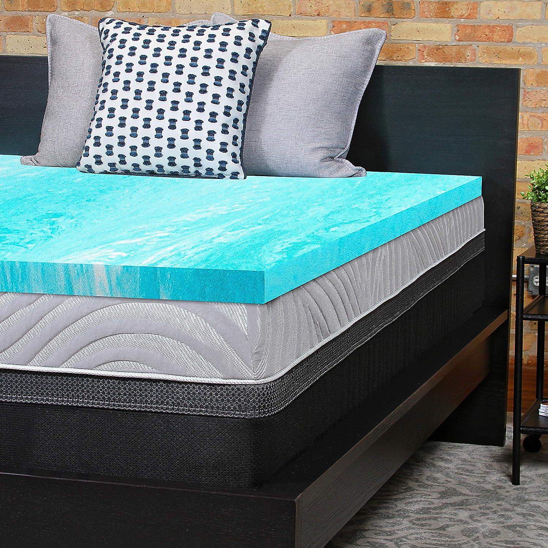 Sealy Essentials 2-Inch Gel Memory Foam Mattress Topper 5 YR Warranty, Twin