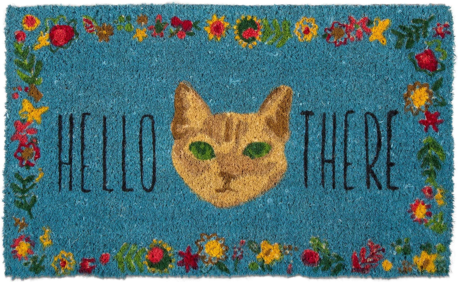 Tag Selling and selling Hello There Cat Kitten Kitty Door Indoo Pet Doormat Coir 2021 model Mat