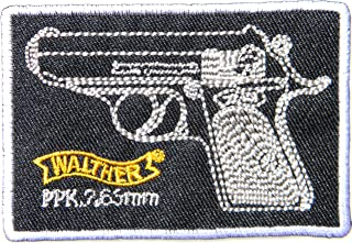 WALTHER PPK FIREARMS Gun Shooting Sport Logo Sign Symbol Patch Iron on Applique Embroidey Decal T shirt Jacket Costume Gift BY SURAPAN