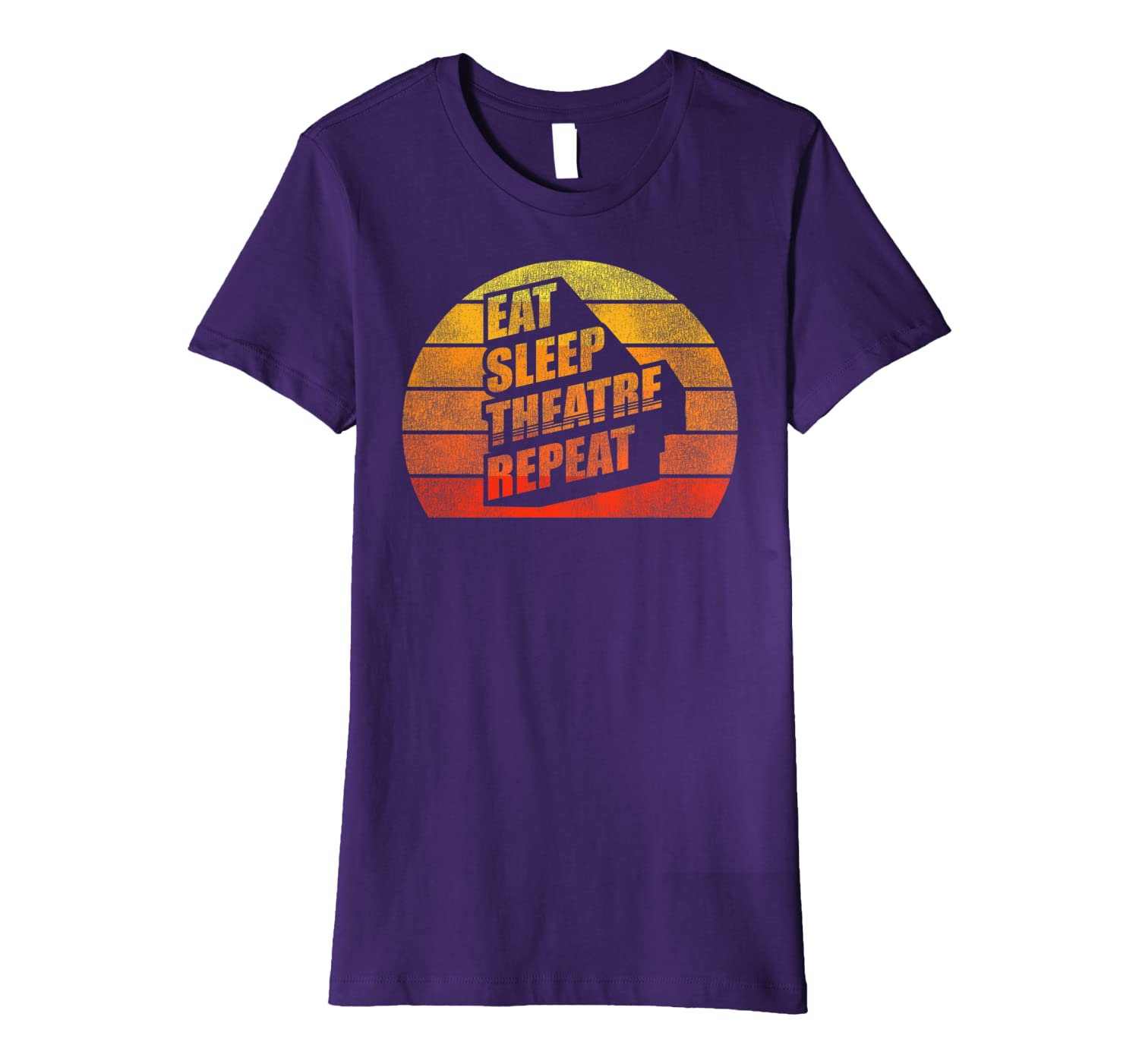 Actor Actress Funny Theater Lover Gifts Eat Sleep Theatre Premium T-Shirt