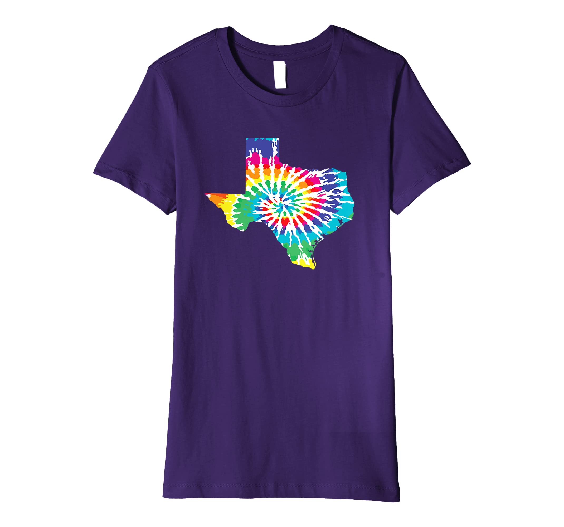 ef633406c Amazon.com: Tie Dye Texas Shirt Tie Dyed Print State Shape Tee T-Shirt:  Clothing