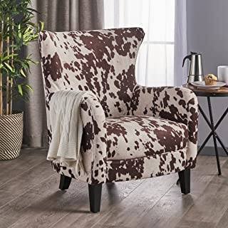 Christopher Knight Home 301835 Arabella Velvet Club Chair, Dark Brown