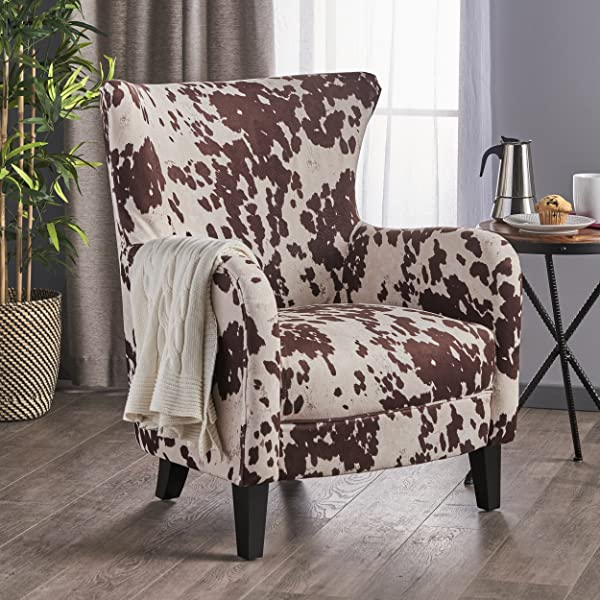 Christopher Knight Home 301835 Arabella Velvet Club Chair Dark Brown