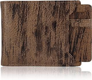 Le Craf Men's Leather RFID Blocking Tobacco Colour Wallet