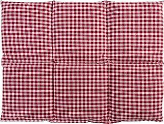 Almohada térmica - Bolsa de semillas para la espalda (calor y frio) - (40x30cm rojo-blanco con 6 compartimientos, semillas de colza)