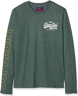 Superdry Men's Vintage Logo Linear Ls Tee Long Sleeve Top