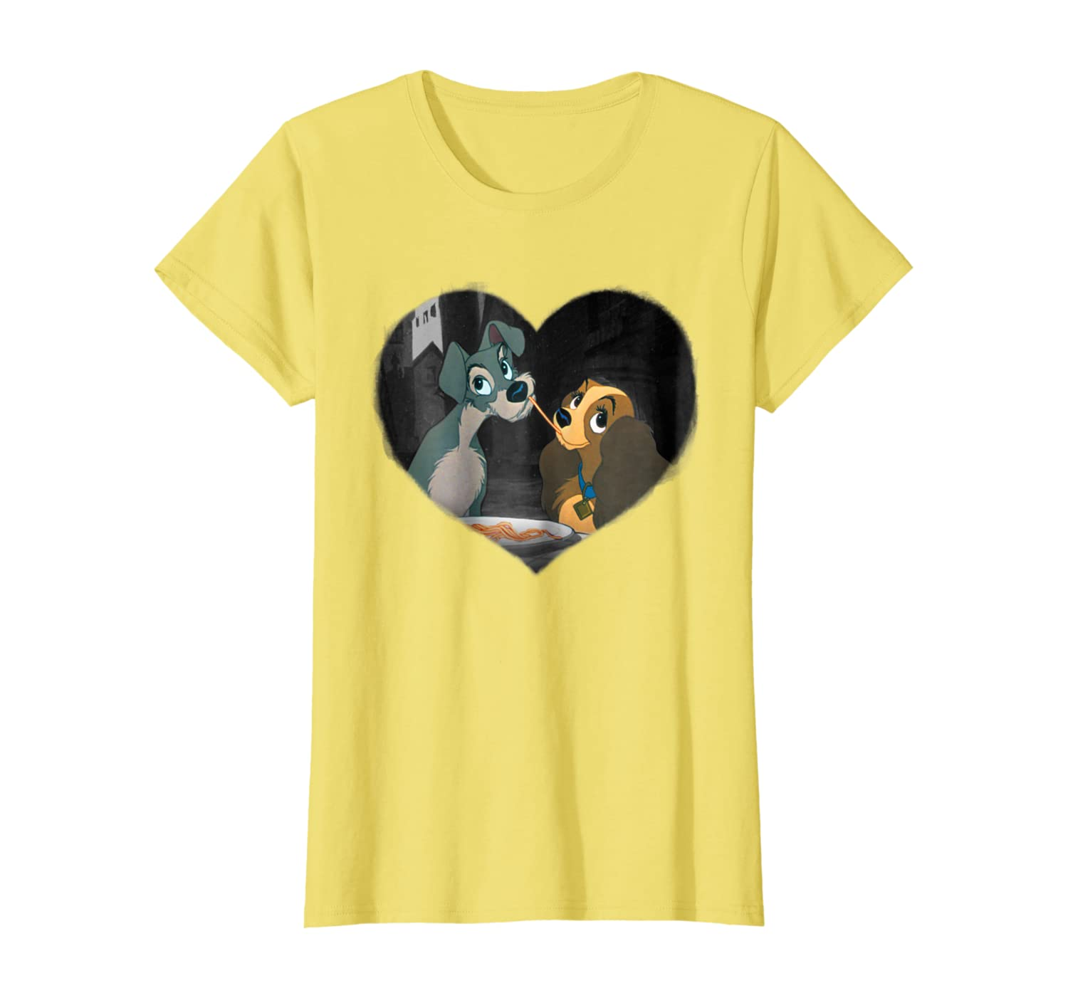 Amazon Com Disney Lady And The Tramp First Kiss T Shirt Clothing
