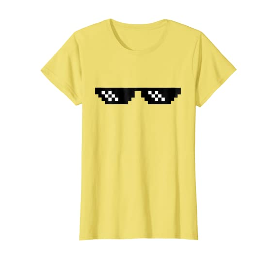Amazon.com: Tratar con él Dank Emoji T-Shirt Pixel anteojos ...