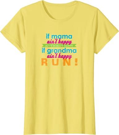 Gildan Raglan T-shirt 3//4 Sleeve If Mom Ain/'t Happy Nobody Mother Momma