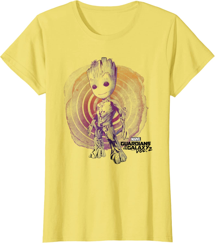 2 Groot Lines Face Graphic T-Shirt C1 Marvel Guardians Vol