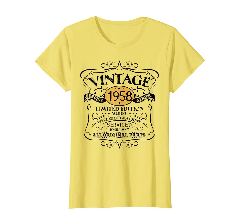 Amazon.com: clásico 60th cumpleaños Funny TSHIRT 1958 Todos ...