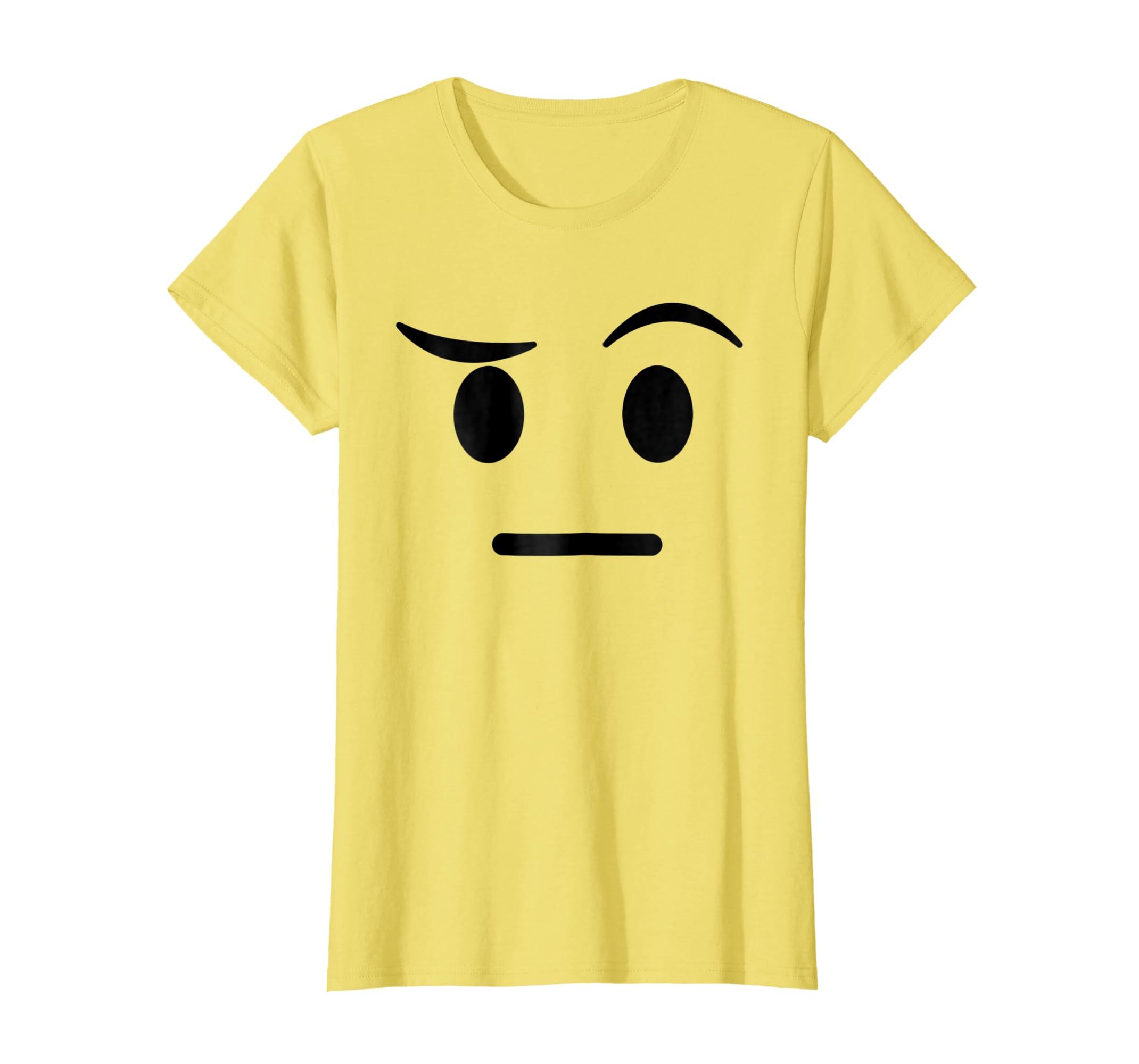 Amazon Halloween Emojis Costume Shirt Raised Eyebrow Sceptic