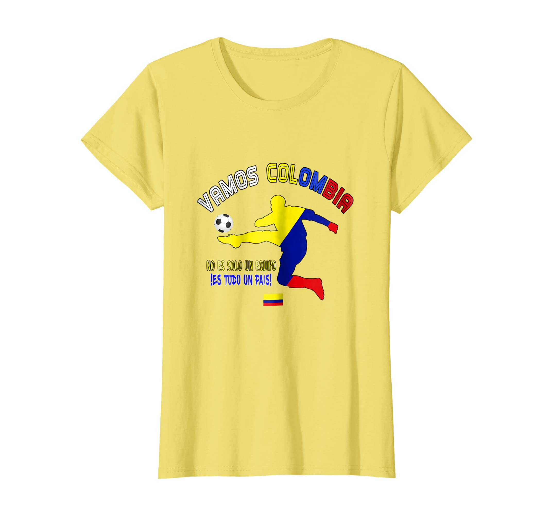 ae0190c6172 Amazon.com  Colombia Colombian Soccer Team 2018 T Shirt Football Fan   Clothing