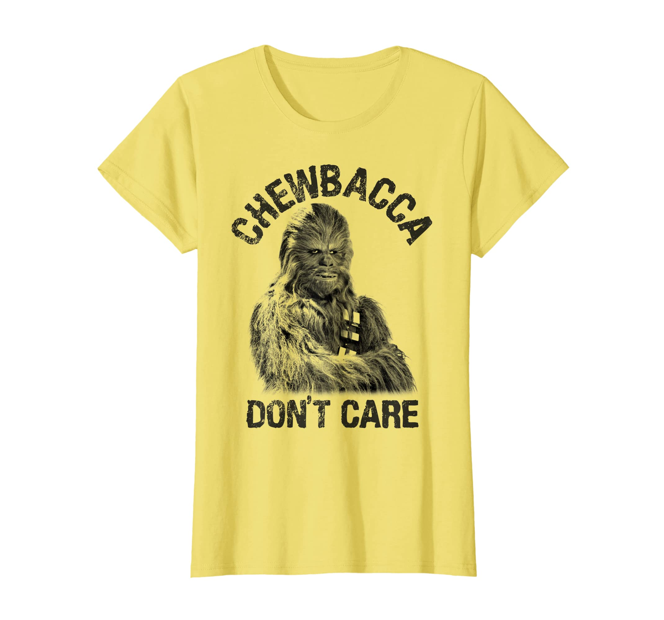 3ed96efa8 Amazon.com: Star Wars Chewbacca Don't Care Graphic T-Shirt: Clothing
