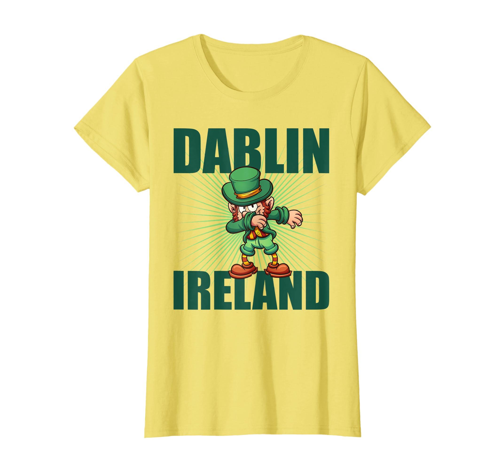 f3f96c962 Amazon.com: DABBING LEPRECHAUN Shirt | Dublin Ireland Dab TShirt: Clothing