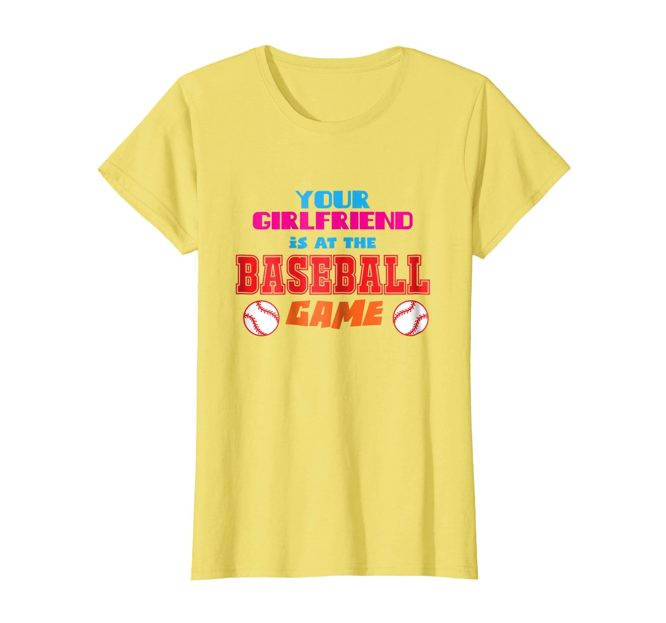 99dae86e30a Amazon.com: Funny Baseball Shirts for Girlfriend Sports T-Shirts ...