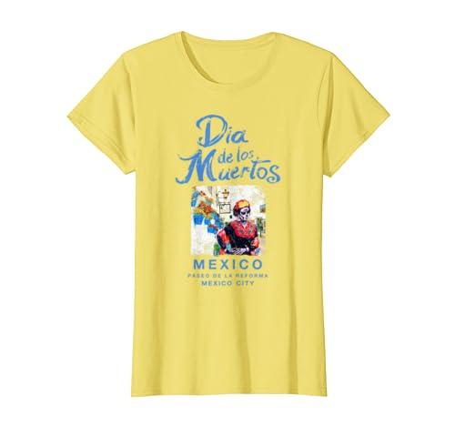 Amazon.com: Camiseta con diseño de calavera del Día de los ...