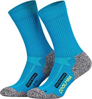 Piarini, 2 pares de calcetines de última tecnología - Para actividades al aire libre - Coolmax - Varios colores