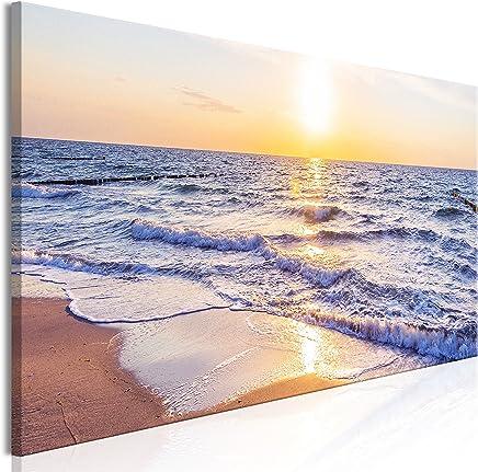 murando Cuadro Playa Mar 150x50 cm impresión en Material Tejido no Tejido artística fotografía Imagen gráfica