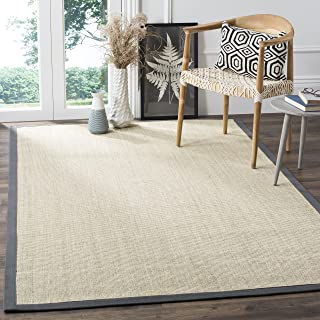 Safavieh Natural Fiber Collection NF441B Hand Woven Marble and Grey Sisal Area Rug (3' x 5')