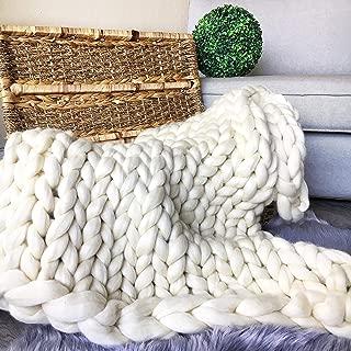 gray chunky knit blanket