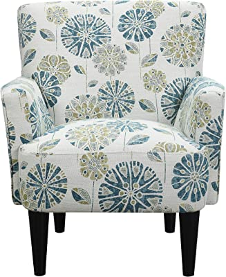 Emerald Home Furnishings Flower Power Accent Chair, Cascade Teal