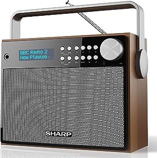 SHARP DR-P350 6W DAB+ and FM Portable Digital Radio with LED Display, Headphone Jack and Alarm Clock – Brown