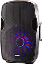 Gemini AS Series Professional Audio 15-inch Portable Active PA Loudspeaker with Bluetooth Compatibility, Mic and Line XLR, 1/4