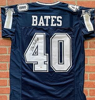 Bill Bates autographed signed jersey NFL Dallas Cowboys PSA COA