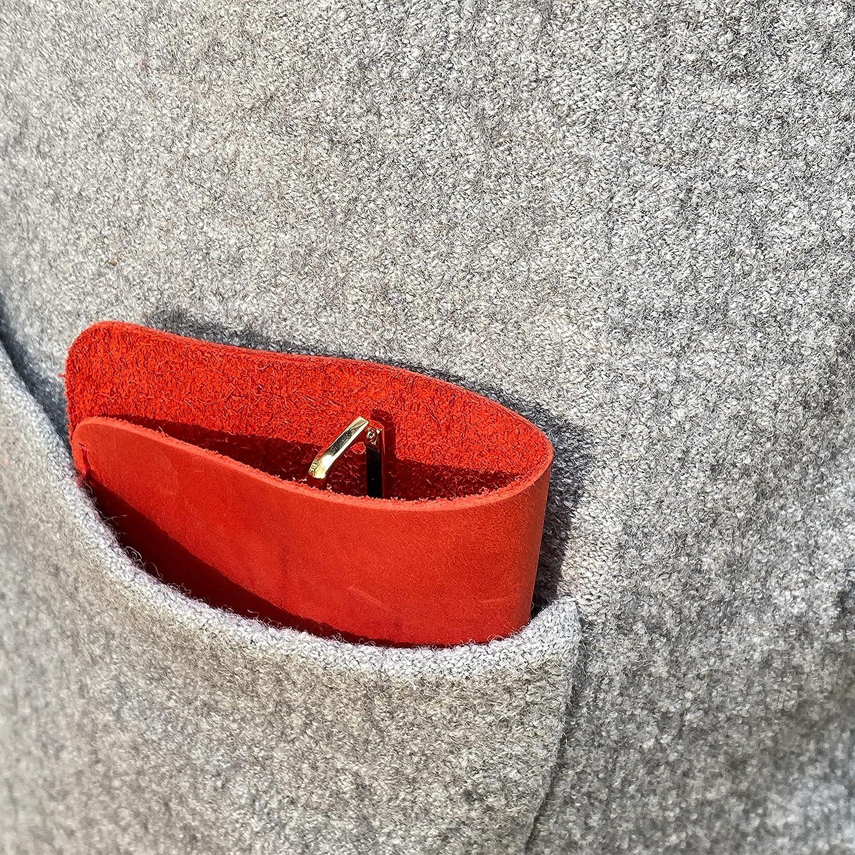 INCARNE - Simple stylish leather eyeglasses case - Soft leather eyeglass holder - soft glasses pouch