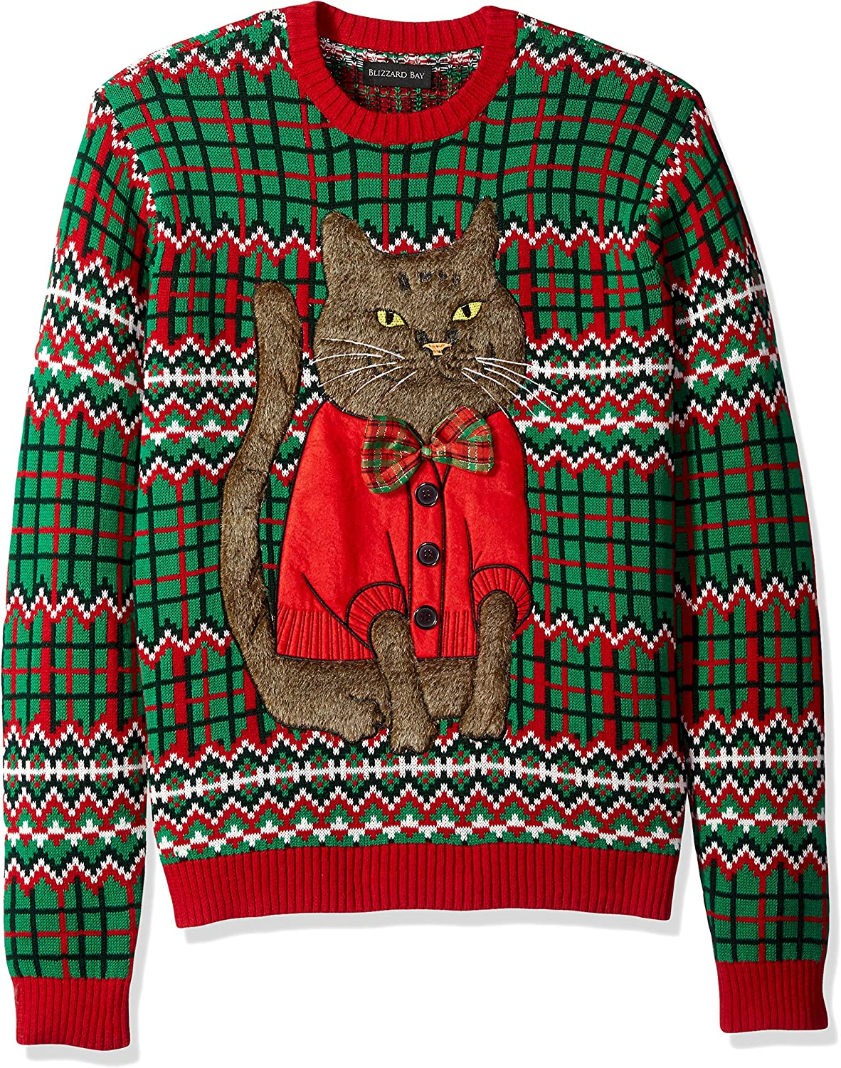Blizzard Bay Men's OFFicial store Ugly Sweater Christmas Cat Award-winning store