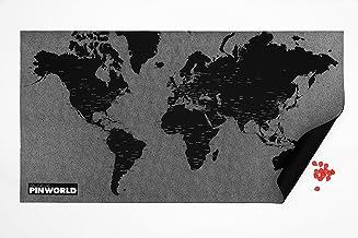Palomar 8051122020195 - Mapa del mundo de los países, color negro
