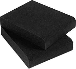Sound Addicted - Studio Monitor Isolation Pads for 3-4.5 inches Small Speakers, Pair of 2 High Density Dampening Acoustic Stands Foam which Fits most Bookshelf's and Desktops | SMPad 4