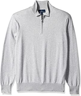Buttoned Down Men's Supima Cotton Quarter-Zip Sweater