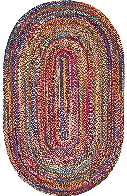 nuLOOM Tammara Hand Braided Oval Rug, 8' x 11' Oval, Multi