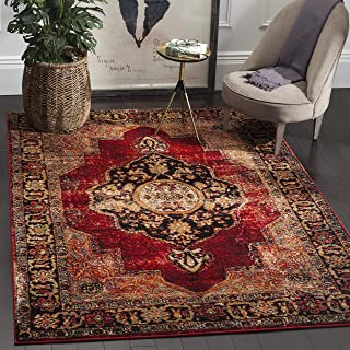 Safavieh Vintage Hamadan Collection VTH219A Oriental Antiqued Red and Multi Area Rug (4' x 6')
