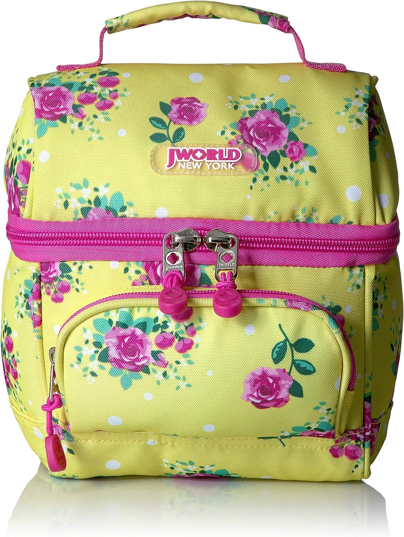 J World New York Corey Lunch Bag Schulranzen, 9 cm, Mehrfarbig (English pink)