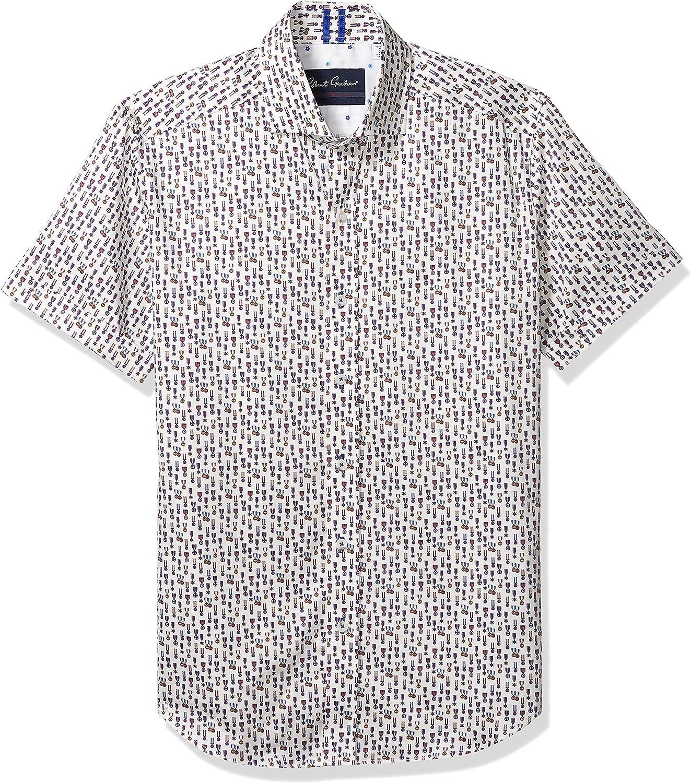 Robert Graham Men's Maxcy S/S Woven Shirt