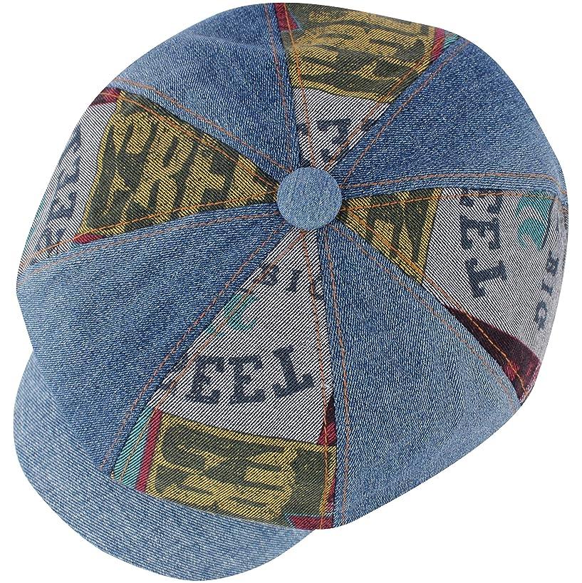 RaOn N416 Women Newsboy Cap 8 Panel Washed Denim Beret Driving Flat Golf Gatsby Hat