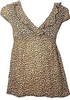 6d54cd157b54 Jane Norman Ladies V-Neck Animal Print Chiffon Top. RRP: £28.