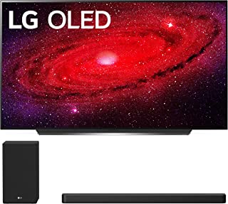 """LG OLED77CXP 77"""" Ultra High Definition HDR Smart Self Lighting OLED TV with a LG SN8YG 3.1.2 Ch High-Res Dolby Atmos Audio Soundbar and Subwoofer (2020)"""